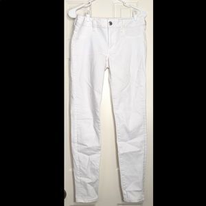 White AEO SuperStretch Jeans
